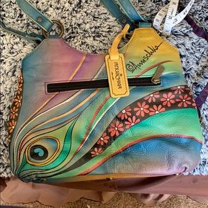 Anuschka colorful leather purse